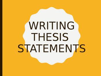 Thesis statement middle school definition